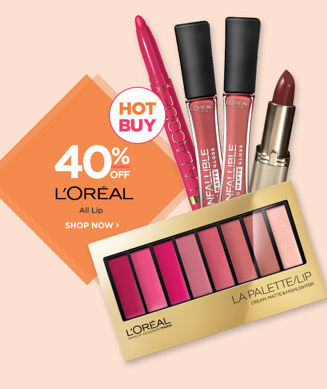 L'OREAL | All Lip 40 Percent Off