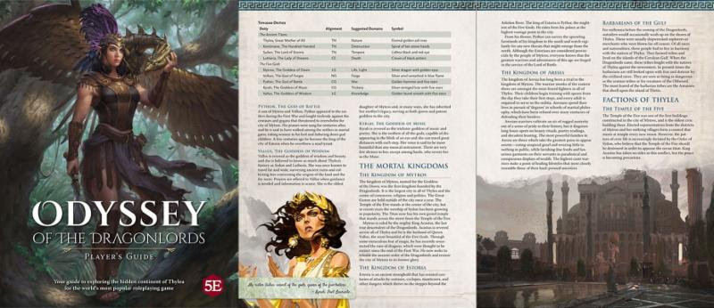 Odyssey of the Dragonlord players guide spread