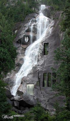 водопад дом