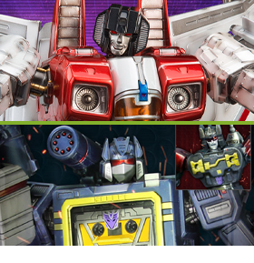TRANSFORMERS G1 STARSCREAM & SOUNDWAVE STATUES