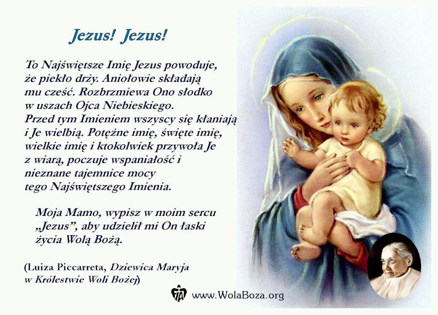 Znalezione obrazy dla zapytania swiete imi9e jezus