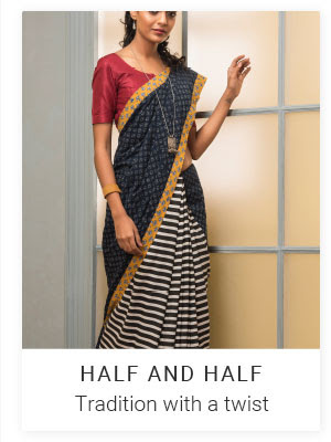 Women's Clothing : Half & Half Sarees