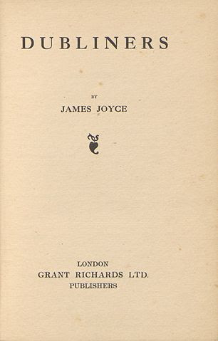 """Primera página de la primera edición de """"Dublineses"""""""