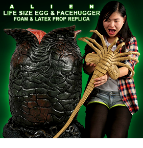ALIENS LIFE SIZE EGG WITH FACE HUGGER
