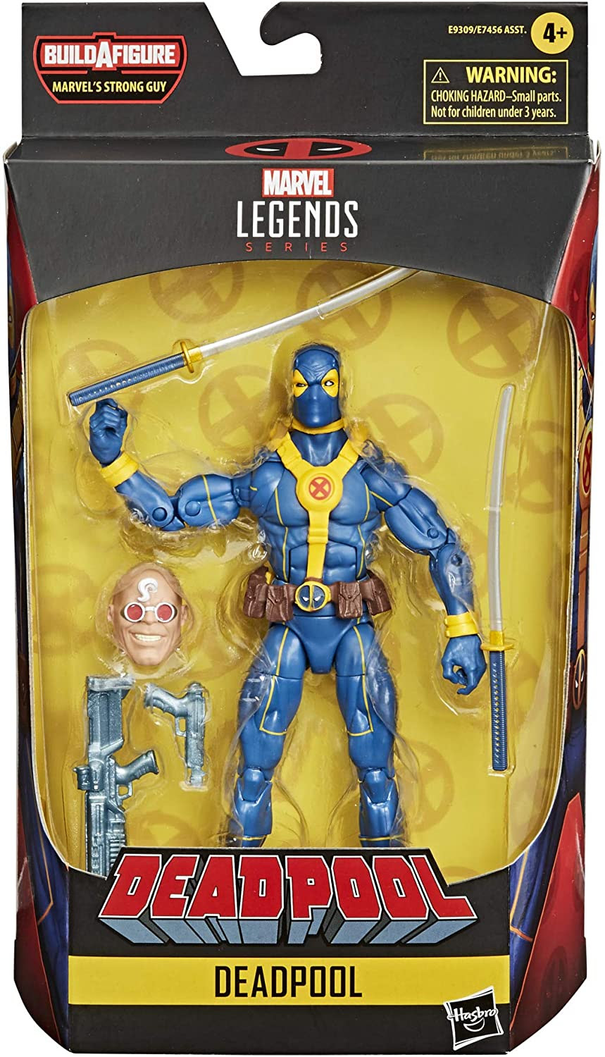Image of Hasbro Marvel Legends Series Deadpool Collection 6-inch Blue Deadpool Action Figure Toy Premium Design and 1 Accessory