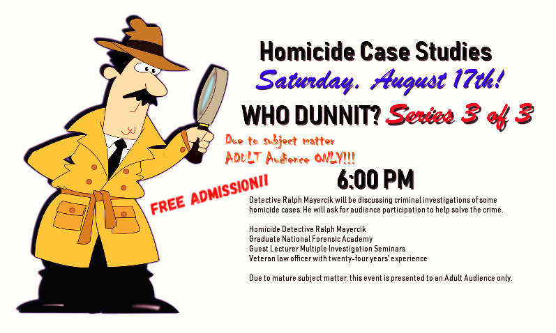 Who Dunnit? Homicide Case Studies