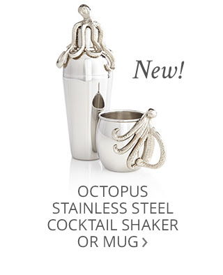 New! Octopus Stainless Steel Cocktail Shaker or Mug.