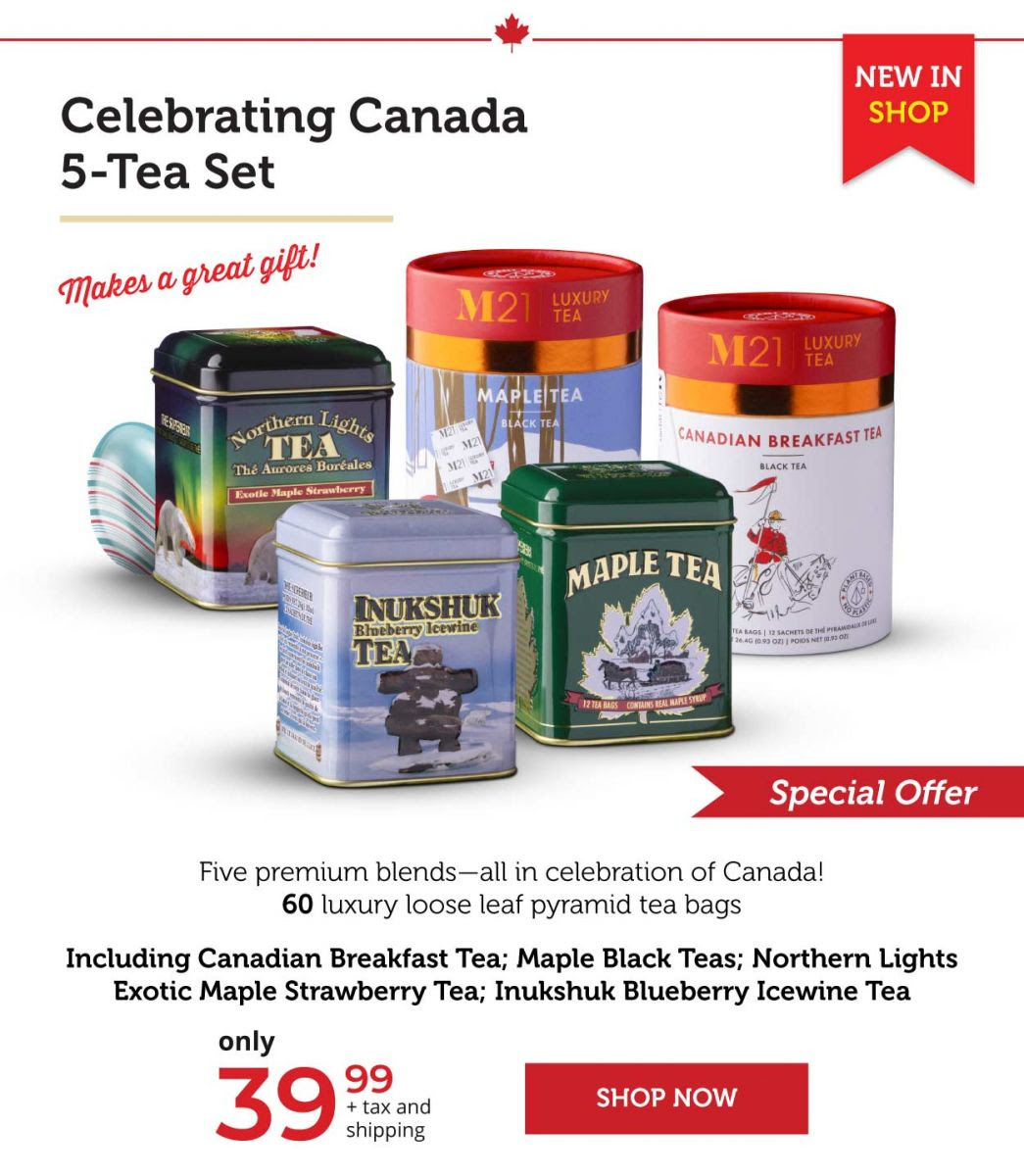 Celebrating Canada 5-Tea Set