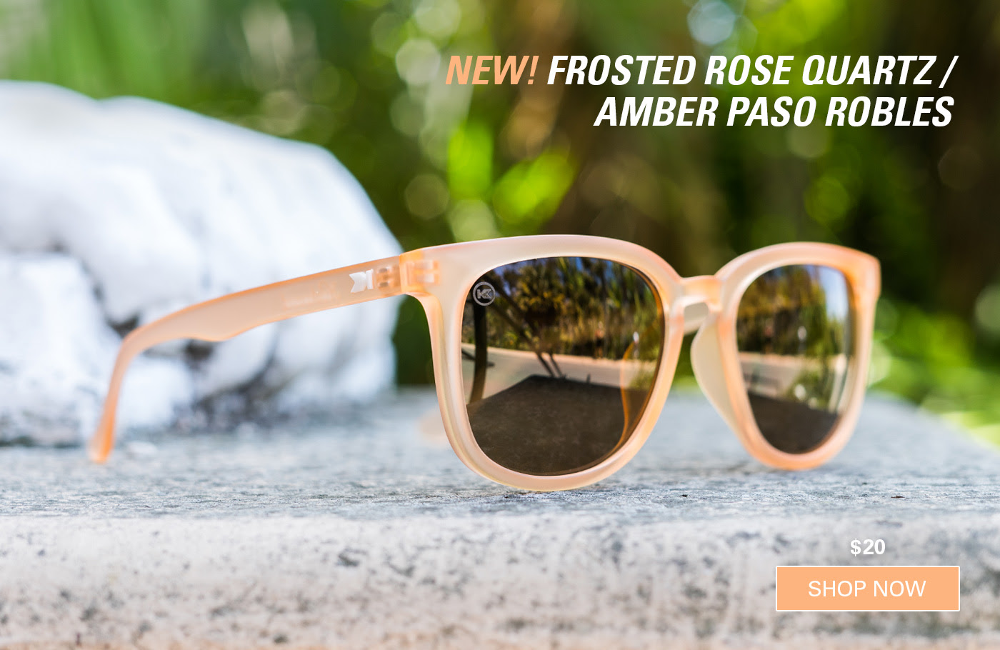 Frosted Rose Quartz / Amber Paso Robles