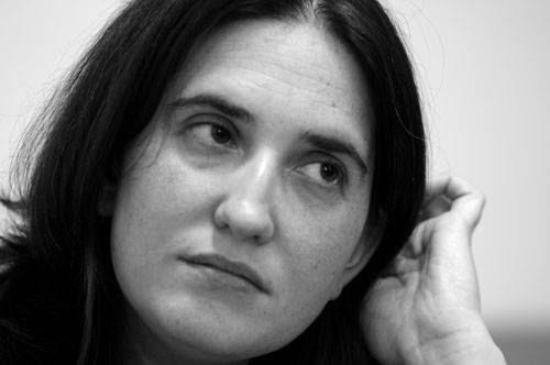 Macarena Gelman, durante la entrevista. / Foto: Sandro Pereyra