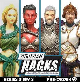 VITRUVIAN H.A.C.K.S. SERIES 2 WAVE 3 FIGURES