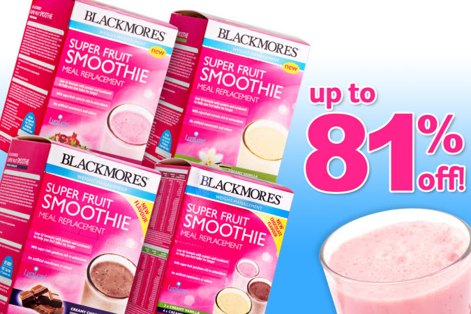 Save Up to  81% OFF Blackmores Super Fruit Smoothies at CatchoftheDay.com.au
