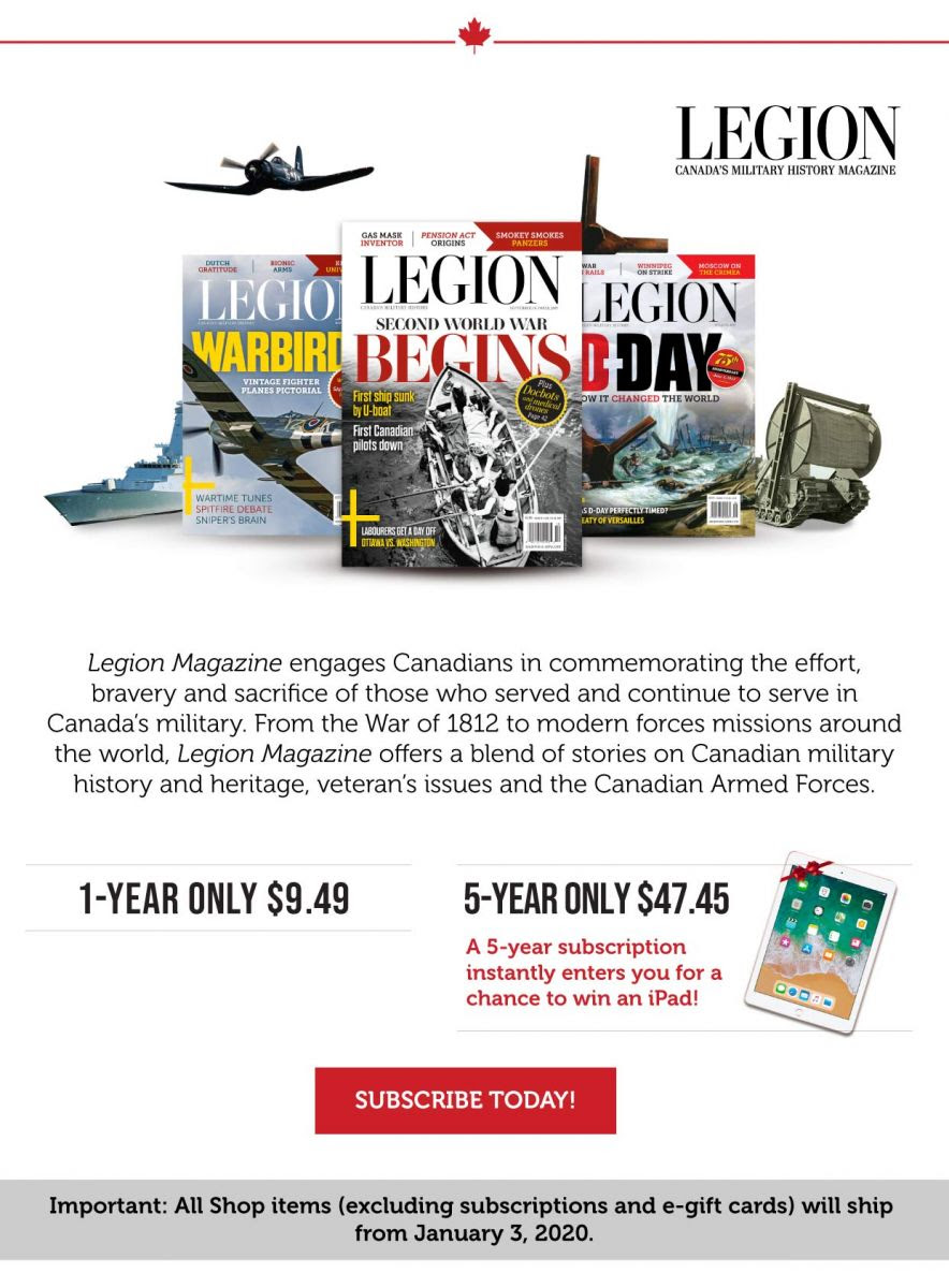 Legion Magazine subscription