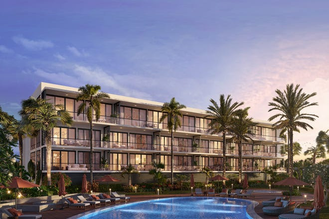 This artist's rendering depicts one of the riverfront condominium buildings at Harbor Island Beach Club south of Melbourne Beach.