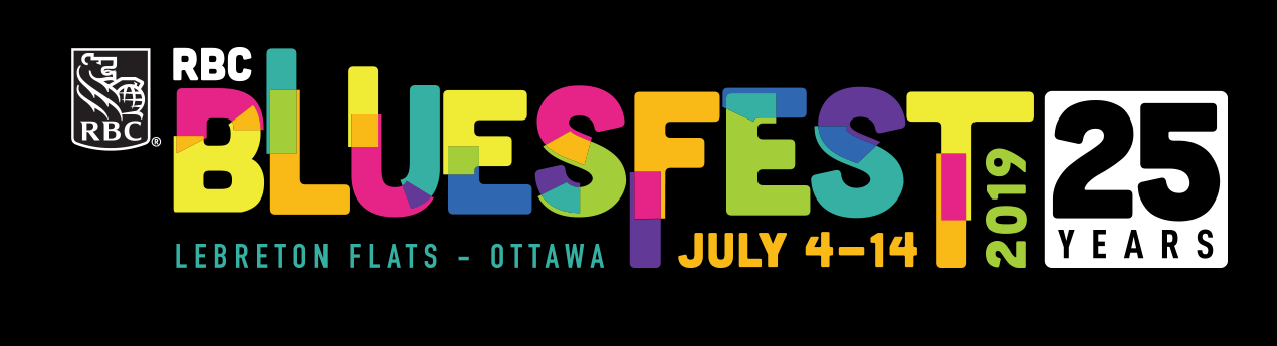 RBC Bluesfest logo - 25 years