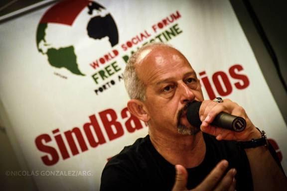 Jamal Juma en el FSM Palestina Libre (Porto Alegre 2012) (Nicolás González)