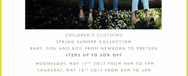 BONPOINT Children's Clothing Spring Summer Collection —Save-The-Date!
