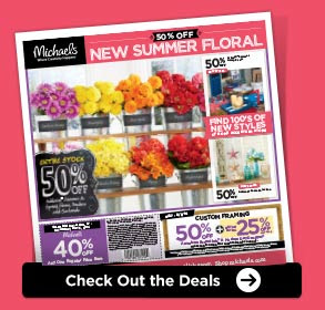 Michaels® 50% OFF NEW SUMMER FLORAL - Check Out the Deals