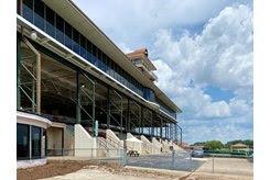 The grandstand at Ellis Park