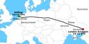 Verlauf des Malaysia-Airlines-Fluges MH-17
