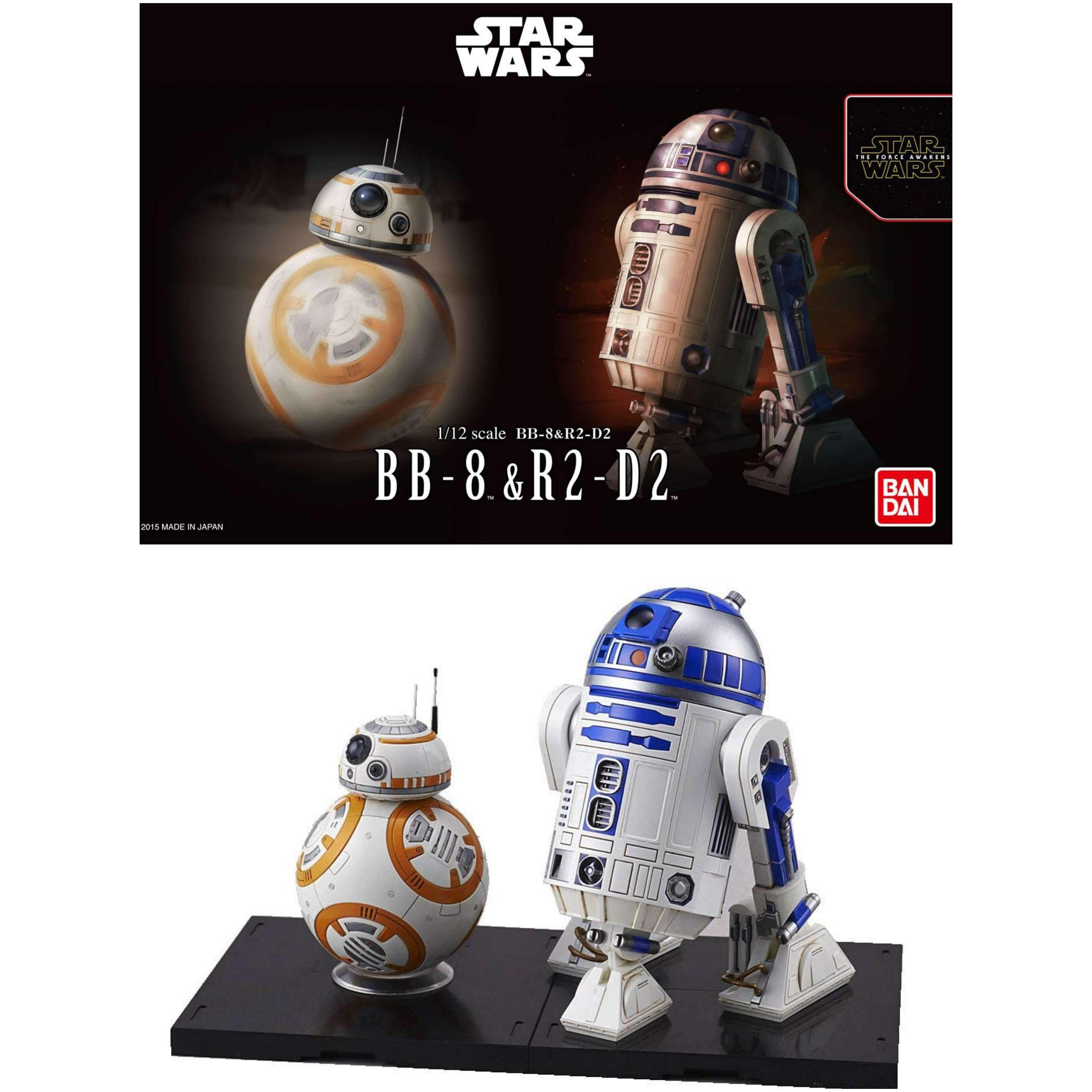 Image of Star Wars BB-8 & R2-D2 1/12 Scale Model