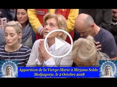 Apparition de la Vierge Marie à Mirjana Soldo le 2 Octobre 2018