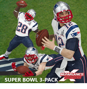 NEW ENGLAND PATRIOTS SUPER BOWL 3-PACK