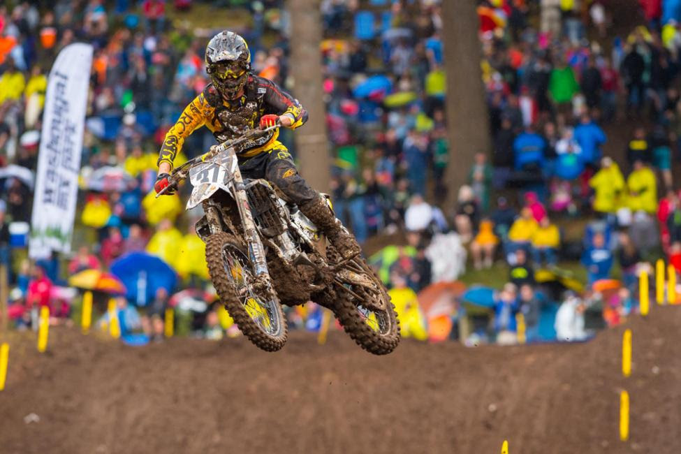 Pourcel put his Husqvarna on the overall podium.Photo: Simon Cudby
