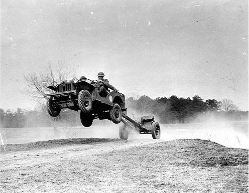 BRC-60 prototype jeep, during US Army testing, circa early 1941.