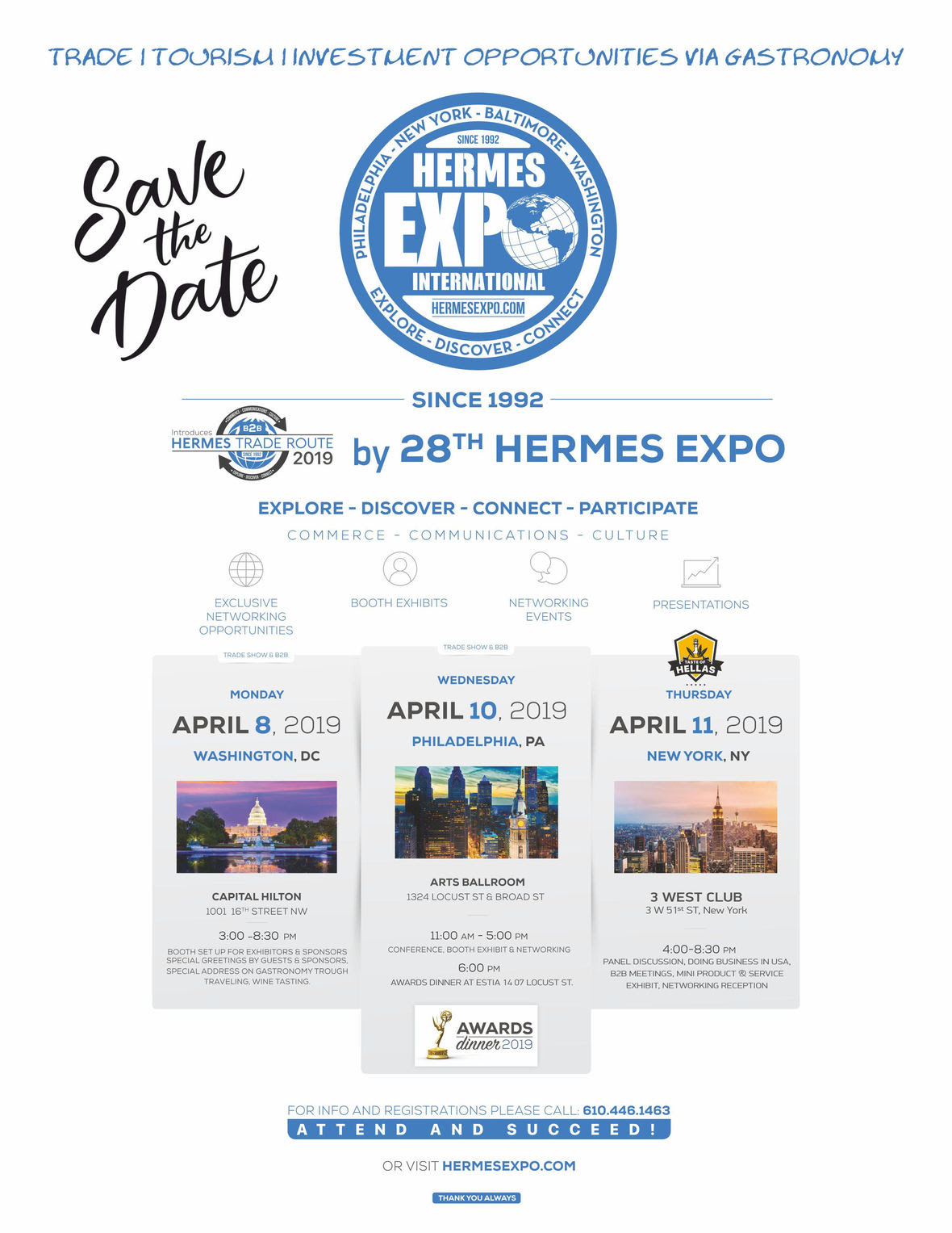 Hermes Expo 2018 Event Flyer