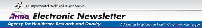 AHRQ Electronic Newsletter banner image