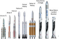 The rockets, named New Glenn after John Glenn, the first American to orbit the Earth, are almost as large as the Saturn V rocket that NASA used from 1966 to 1973.