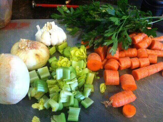 Add the vegetables How to Make Bone Broth