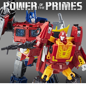 TRANSFORMERS POWER OF THE PRIMES LEADER RODIMUS & OPTIMUS PRIME