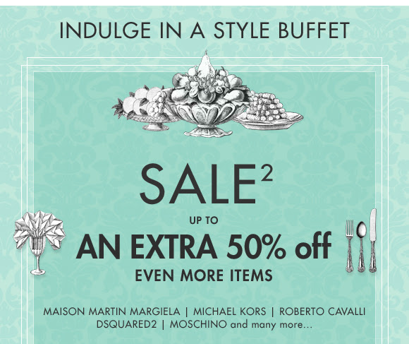 Save up to 50% off on slected designers Michael kors,  Maison martin, Roberto cavalli  and many more at Yoox.com