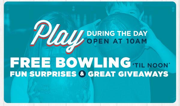 Free Bowling, Fun Surprises, Great Giveaways