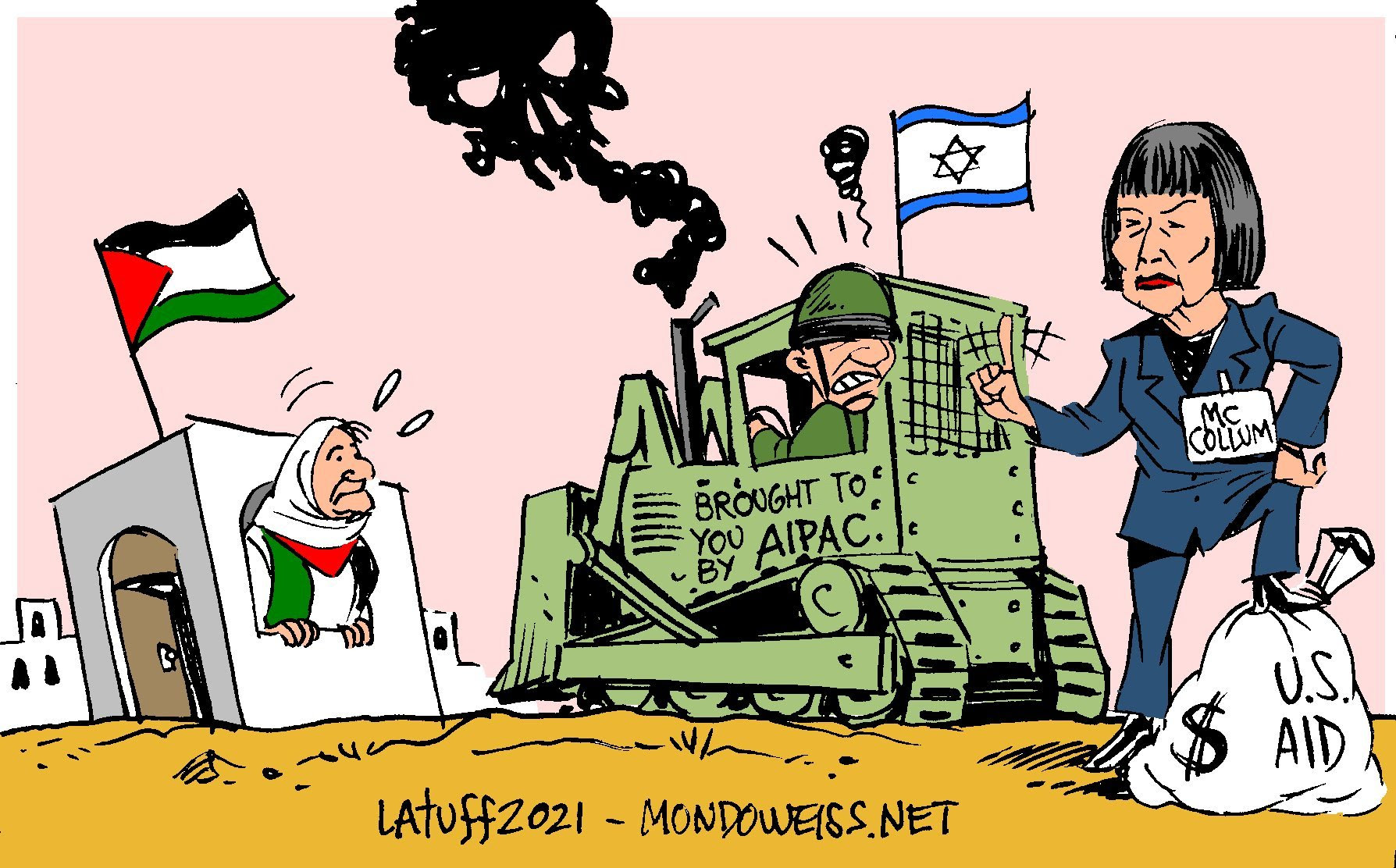 """Carlos Latuff on Twitter: """"I applaud @BettyMcCollum04 for her courage on  releasing this bill, seeking to end US complicity for #Israel human rights  violations against Palestinians. https://t.co/UhFZ5twERQ Cartoon  @Mondoweiss… https://t.co/ezpiVcHVyG"""""""