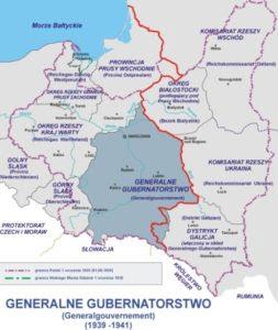 IV.rozbior Polski_mapa-pakt_Ribbentrop-Mołotow. Generalne_Gubernatorstwo 1939-1941 [mapa].