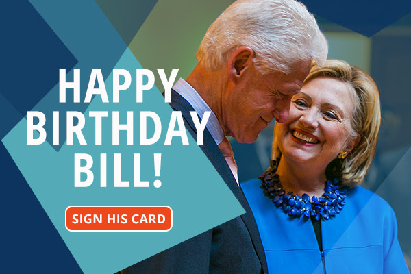 HAPPY BIRTHDAY BILL! SIGN HIS CARD