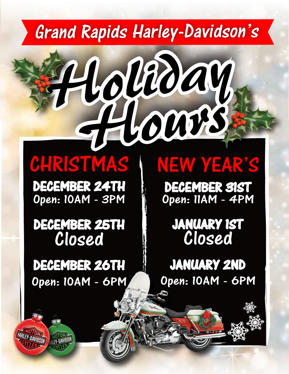gr-hd holiday hours