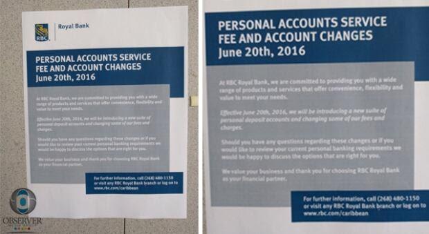 RBC bank fees Caribbean