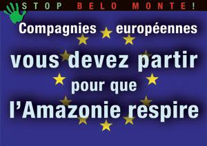 Compagnies européennes, vous devez partir pour que l'Amazonie respire