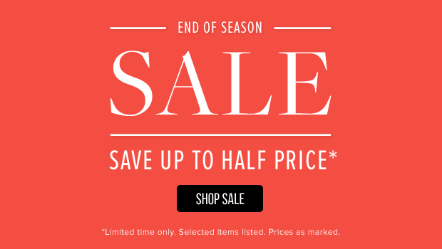 Save Up to Half Price End Of Season Sale at TheIconic.com.au