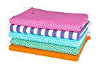 Sathiyas Supreme Multicolor Pure Soft Cotton Bath Towels - Pack Of 5 (Multi 1)