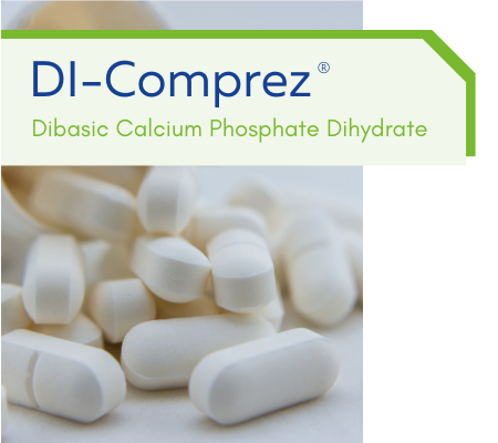 DI-Comprez: Dibasic Calcium Phosphate Dihydrate
