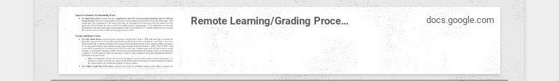 Remote Learning/Grading Procedures (High School) docs.google.com