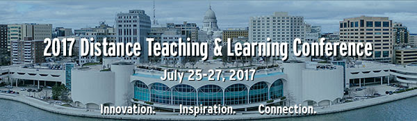 Distance Teaching & Learning Conference with Madison capitol background