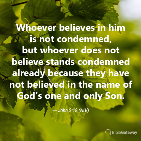 Read John 3:18 on Bible Gateway.