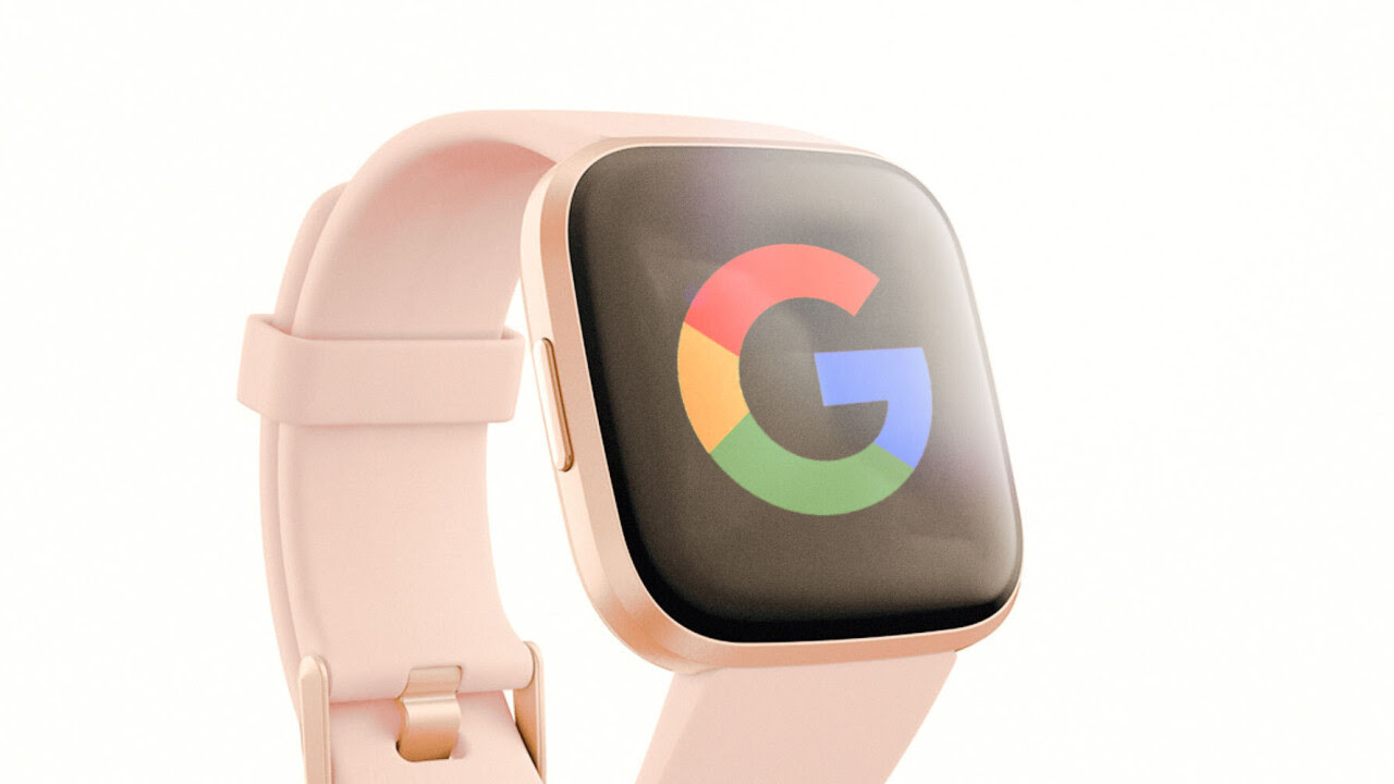Fitbit with Google Logo