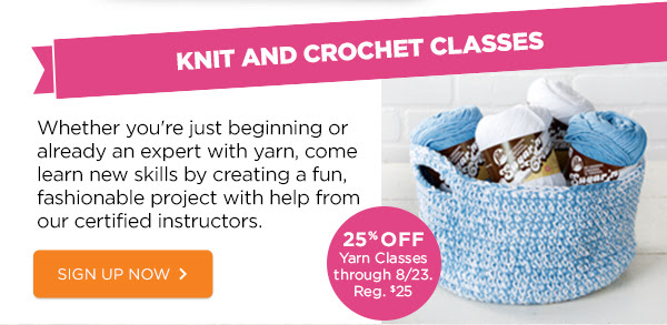 KNIT AND CROCHET CLASSES